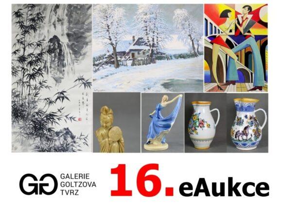 16. e Aukce Galerie Goltzova tvrz
